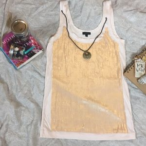 J crew sequined tank top xs